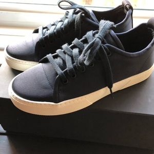 NWT James Perse Carbon Low Navy Nylon sneakers